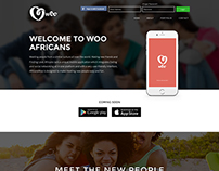 WOO Africans App Landing Page Design
