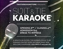 Classy Karaoke Flyer Template