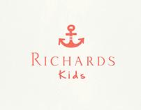 Peças gráficas para a marca Richards Kids