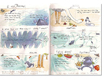 """Marvin's Flight"" Sketch Book"