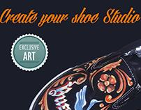 Art for your soles & soul. Create your shoe Studio