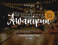 Awanipun Handwritten Free Font