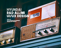 HYUNDAI Motors R&D Alimi UX/UI eXperience Design
