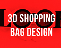 3D LOOK VINTAGE SHOPPING BAG