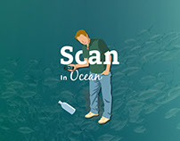 Scan in Ocean - Marine pollution campaign in airport