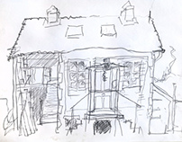 Drawings from Malmouche, Limousin, France