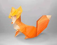 Zorro Origami / Ilustración