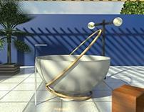 'Spin' bathtub