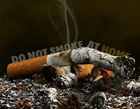 Do not smoke at home photograph & design
