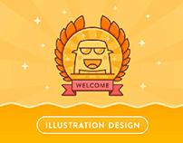 平安湖南APP弹出框插画设计