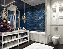 The Blue Project. 3D visualization for a bathroom