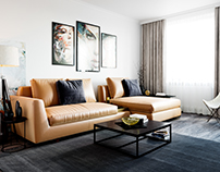 Living room design/Training in 3d visualization