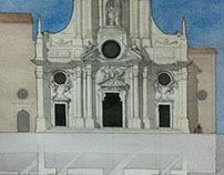 Proposal Esquisse, Facade for Santa Maria Sopra Minerva