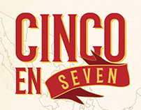 Cinco En Seven: Mexican Restaurant Campaign Design