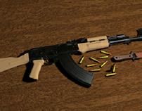 AK47 hires render