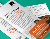 Accent Design & Interiors Print Collateral Campaign