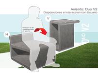 Asiento DUO V2. Componente de Reposo. Mobiliario Urbano