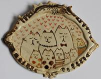 Small ceramic paintings