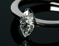 White gold and Marquise Diamond Ring