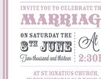 Wedding Invitation (double fold)