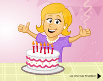 Illustration for the birthday card template