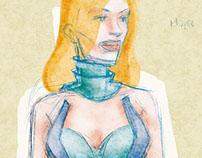Concept Art for 2007 Lavazza Calendar.
