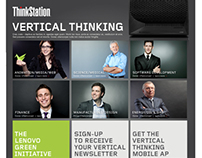 "Lenovo ""Vertical Thinking"" Mobile App and Microsite"