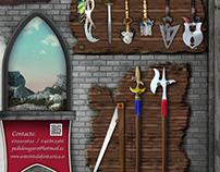 Lona expositora joguets medievals per a xiquets. (2013)