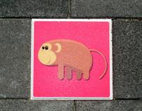 Print on street tiles