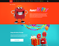 McDonald's HAPPY page designs