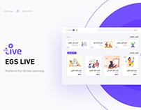 Egslive | platform online education ui/ux