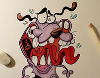 Courage the Cowardly Dog Illustration (Video)