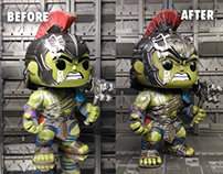 GLADIATOR HULK FUNKO POP! BATTLE DAMAGE CUSTOM