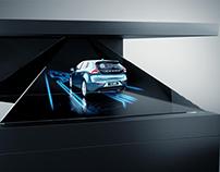 V60 Hybrid holographic animation on Dreamoc display