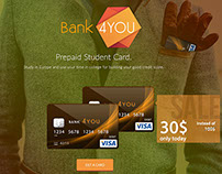 Landing page for students bank