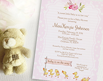 Duck Baby Shower invitation, editable, printable
