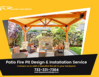 Patio Fire Pit and Retaining Walls in Landscape Design