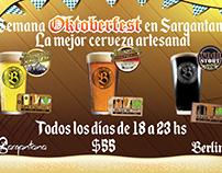 Flyer Oktoberfest - Sargantana Resto Bar