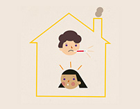 Corona school poster with animations