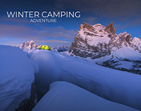 WINTER CAMPING in the DOLOMITES