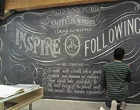 Smith Roberts Agency - Lobby Chalk Wall