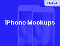 iPhone Mockups [PSD]