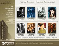 STG - Paramount Theatre Web Site User Interface Design