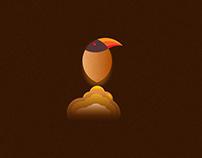 Amazing Golden Circle Bird Logo