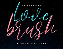Love Brush SVG Font - Free Sans