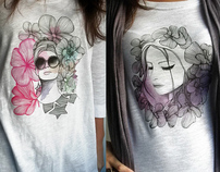 My latest illustrations on tees