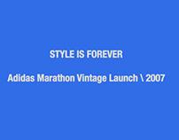 Adidas Marathon Vintage Launch