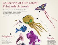 Collection of Our Latest Print Ads Artwork