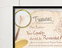Treasures, Launch Event Invitation Card