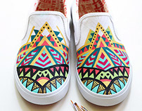 Hand painted Bucketfeet Shoes